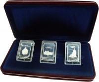 Изображение Подарочные монеты Россия Якутск - 365 лет 0 Серебро Proof- ММД. Набор из 3 жето