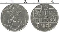 Продать Монеты Данциг 10 пфеннигов 1923 Медно-никель