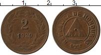 Продать Монеты Гондурас 2 сентаво 1920 Бронза