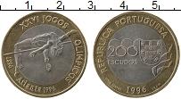 Изображение Мелочь Португалия 200 эскудо 1996 Биметалл UNC-