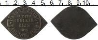 Изображение Монеты Азия Индонезия 1 доллар 1891 Бронза XF
