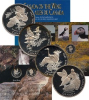 Изображение Подарочные монеты Канада Птицы Канады 1995 Серебро Proof Подарочный набор сос