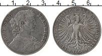 Изображение Монеты Европа Франфуркт 1 талер 1860 Серебро VF