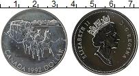 Изображение Монеты Канада 1 доллар 1992 Серебро UNC- Елизавета II. Дилижа