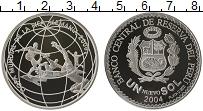 Изображение Монеты Перу 1 соль 2004 Серебро Proof