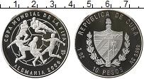 Изображение Монеты Куба 10 песо 2003 Серебро Proof Чемпионат Мира по фу