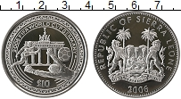 Изображение Монеты Сьерра-Леоне 10 долларов 2006 Серебро Proof Чемпионат Мира по фу