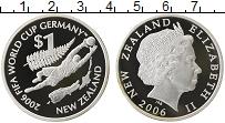 Изображение Монеты Новая Зеландия 1 доллар 2006 Серебро Proof- Чемпионат Мира по фу