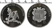 Изображение Монеты Андорра 10 динерс 2006 Серебро Proof Чемпионат Мира по фу