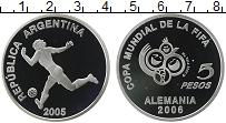 Продать Монеты Аргентина 5 песо 2005 Серебро