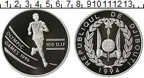 Продать Монеты Джибути 100 франков 1994 Серебро