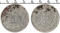 Изображение Монеты Германия 1/2 марки 1916 Серебро VF D