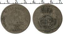 Изображение Монеты Вюртемберг 6 крейцеров 0 Серебро VF