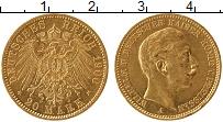 Изображение Монеты Пруссия 20 марок 1900 Золото UNC-
