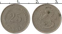 Изображение Монеты Финляндия 25 пенни 1937 Медно-никель XF