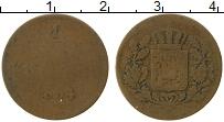 Изображение Монеты Бавария 1 пфенниг 1854 Медь VF