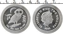 Изображение Монеты Ниуэ 2 доллара 2020 Серебро UNC