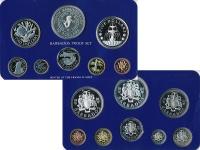 Изображение Подарочные монеты Северная Америка Барбадос Набор 1982 года 1982  Proof