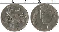 Изображение Монеты Италия 20 чентезимо 1920 Медно-никель VF