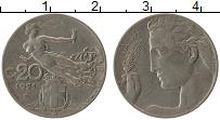Изображение Монеты Италия 20 чентезимо 1921 Медно-никель VF