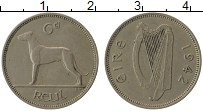 Изображение Монеты Ирландия 6 пенсов 1942 Медно-никель VF