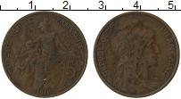 Изображение Монеты Франция 5 сантим 1916 Бронза VF