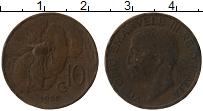 Изображение Монеты Италия 10 чентезимо 1926 Бронза VF Витторио Эмануил III