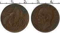 Изображение Монеты Италия 10 чентезимо 1923 Бронза XF