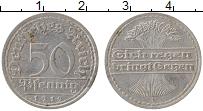 Изображение Монеты Веймарская республика 50 пфеннигов 1919 Алюминий XF