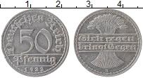 Изображение Монеты Веймарская республика 50 пфеннигов 1922 Алюминий XF