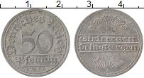 Изображение Монеты Веймарская республика 50 пфеннигов 1920 Алюминий XF A