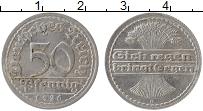Изображение Монеты Веймарская республика 50 пфеннигов 1920 Алюминий XF D