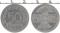 Изображение Монеты Веймарская республика 50 пфеннигов 1921 Алюминий XF A