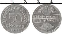 Изображение Монеты Веймарская республика 50 пфеннигов 1921 Алюминий XF D
