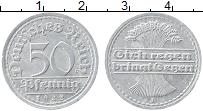Изображение Монеты Веймарская республика 50 пфеннигов 1922 Алюминий XF J