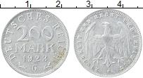 Изображение Монеты Веймарская республика 200 марок 1923 Алюминий VF G