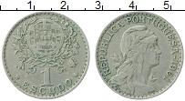 Изображение Монеты Португалия 1 эскудо 1961 Медно-никель XF