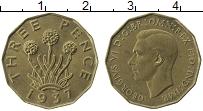 Изображение Монеты Великобритания 3 пенса 1937 Латунь UNC-