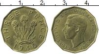 Изображение Монеты Великобритания 3 пенса 1940 Латунь UNC- Георг VI