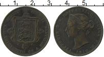 Изображение Монеты Остров Джерси 1/13 шиллинга 1870 Бронза XF Виктория