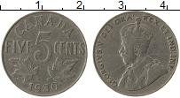 Изображение Монеты Канада 5 центов 1930 Медно-никель XF- Георг V