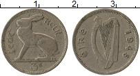 Изображение Монеты Ирландия 3 пенса 1948 Медно-никель XF-