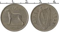 Изображение Монеты Ирландия 6 пенсов 1948 Медно-никель XF-