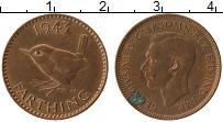 Изображение Монеты Великобритания 1 фартинг 1943 Бронза XF Георг VI
