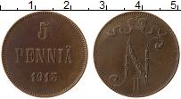Изображение Монеты Финляндия 5 пенни 1913 Медь XF