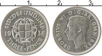 Изображение Монеты Великобритания 3 пенса 1938 Серебро XF+