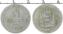 Продать Монеты Вюрцбург 6 крейцеров 1808 Серебро