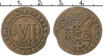 Изображение Монеты Германия Падерборн 6 пфеннигов 1718 Медь XF-