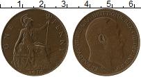 Изображение Монеты Великобритания 1 пенни 1910 Бронза XF Эдуард VII