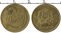 Изображение Монеты Марокко 10 сантим 2002 Латунь UNC-